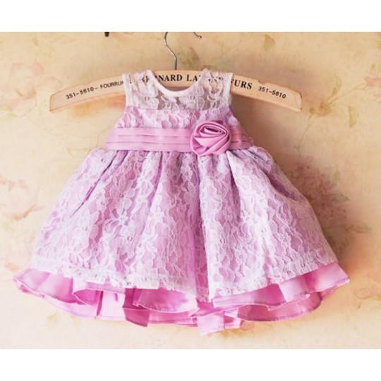 Robe de cérémonie | demoiselle d'honneur petite fille Rose 1M - 4 ans