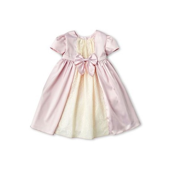 Baby Flower Girl Lacy Overlay Formal Dress 0-12M