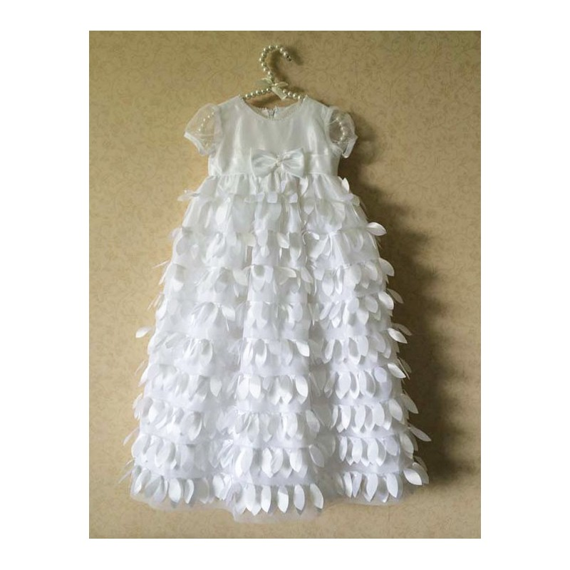 White baby girl ceremony/christening dress 3-24 months