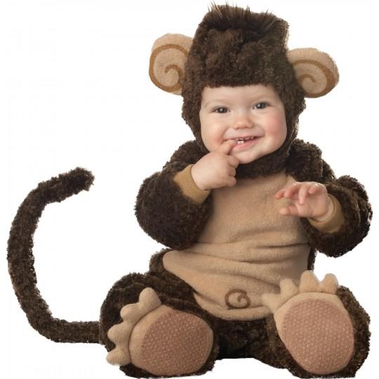 Costume Carnevale Scimmietta per Bambino Incharacter 0-4 anni