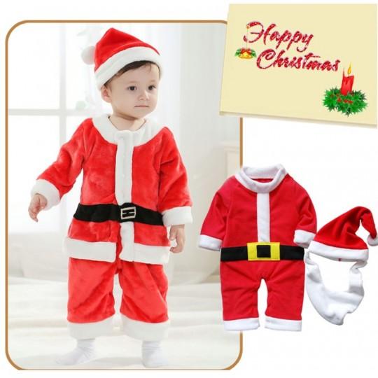 Baby boy Costume Christmas Santa Claus 80cm - 95cm