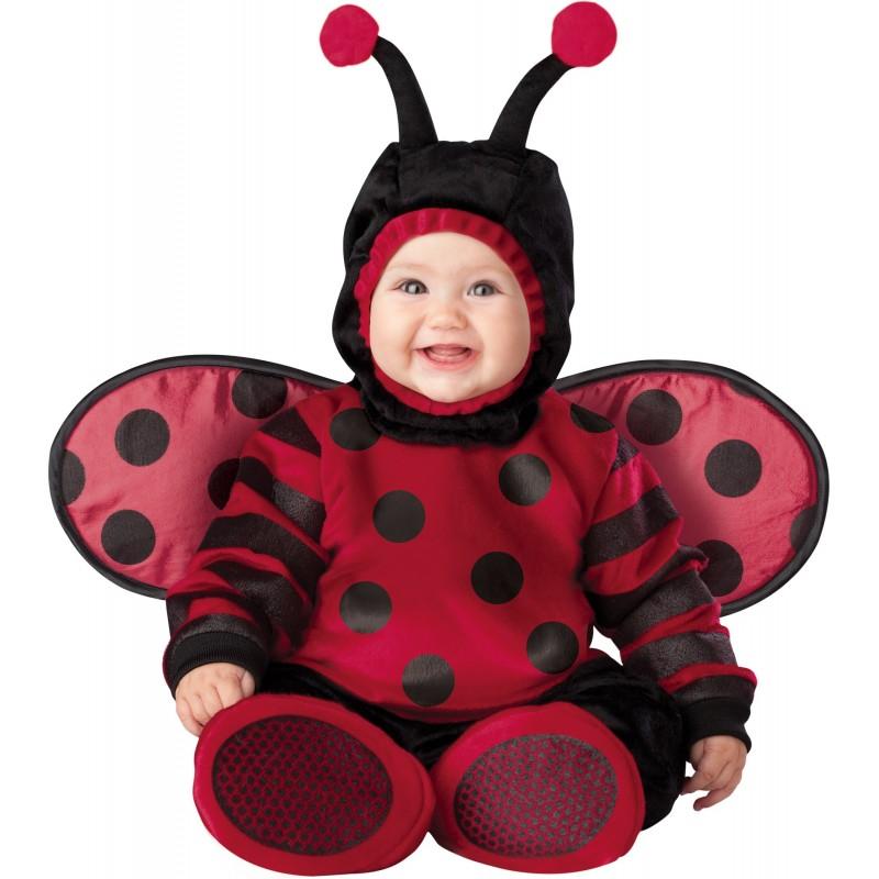 Costume Carnevale Coccinella per Bambina Incharacter 0-4 anni