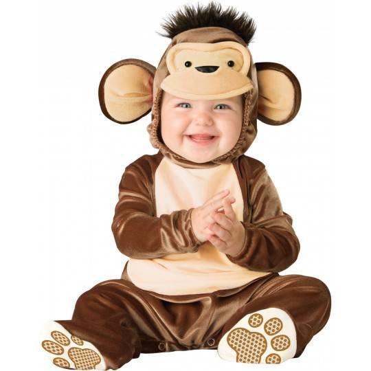 Costume Carnevale Scimmia Birichina per Bambino Incharacter 0-24 mesi