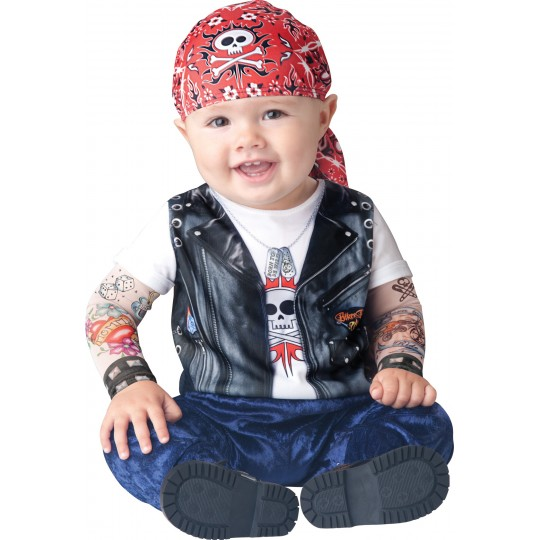 Incharacter Costume Carnevale Motociclista per Bambini 0 - 24M