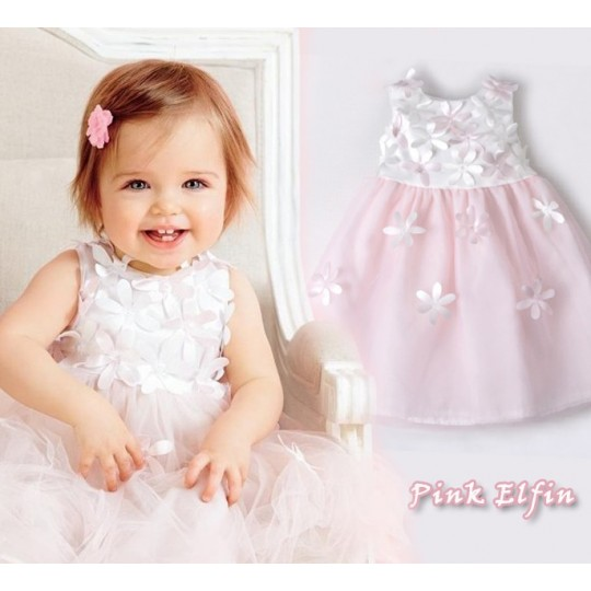 Flower girl formal white/ pink dress 4 years