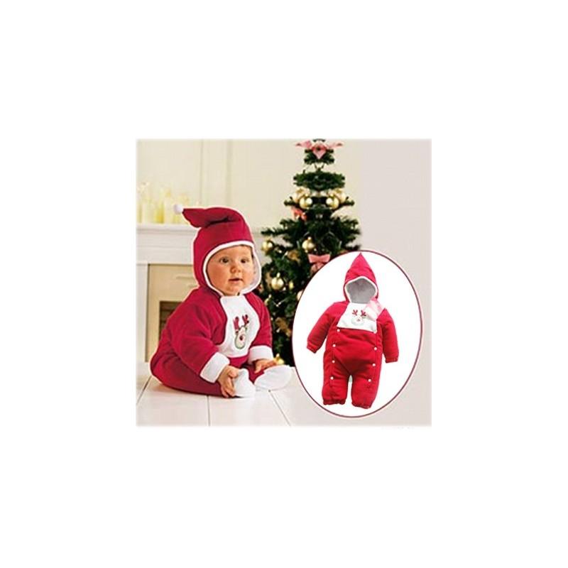 Tutina Babbo Natale Imbottita 80 - 100cm Na02