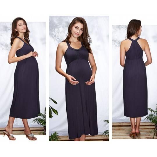 Vestito lungo premaman e allattamento
