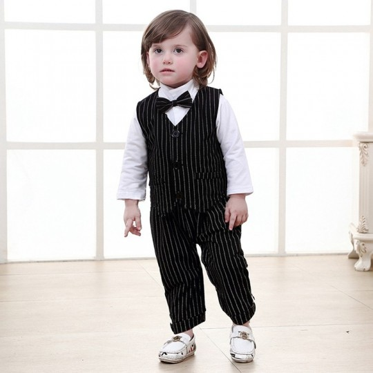 Baby boy formal suit 3 pcs 70-95 cm