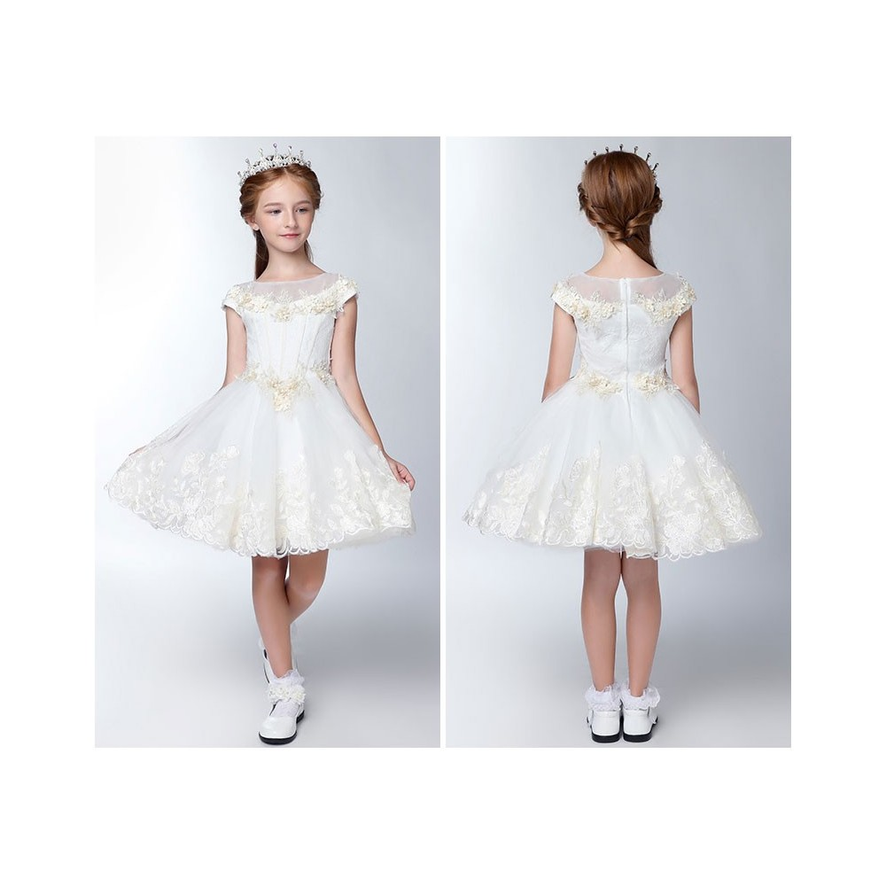 c730a381e Flower girl formal dress white colour 80-140cm - PartyLook