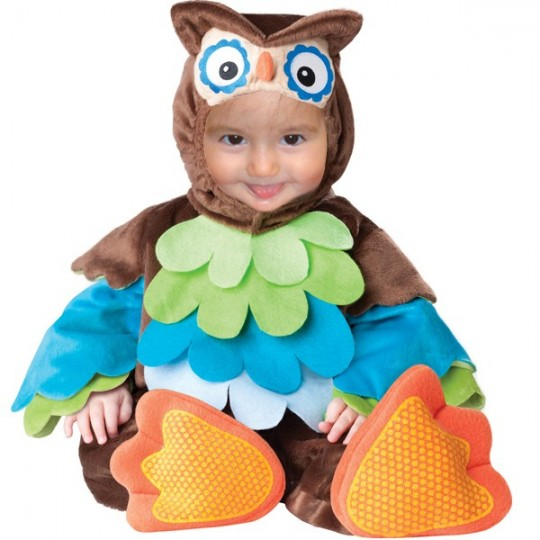Costume Carnevale Gufo per Bambino fino 3 anni