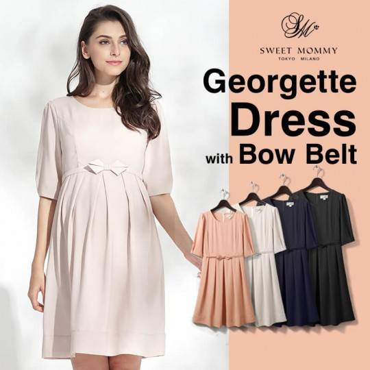Georgette maternity and nursing ceremony dress