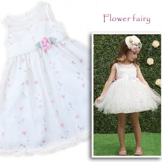 """""""Flower fairy"""" - Vestito Damigella e Cerimonia 4anni"""