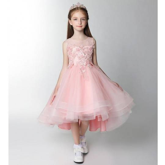 Flower girl formal dress pink colour 100-160cm