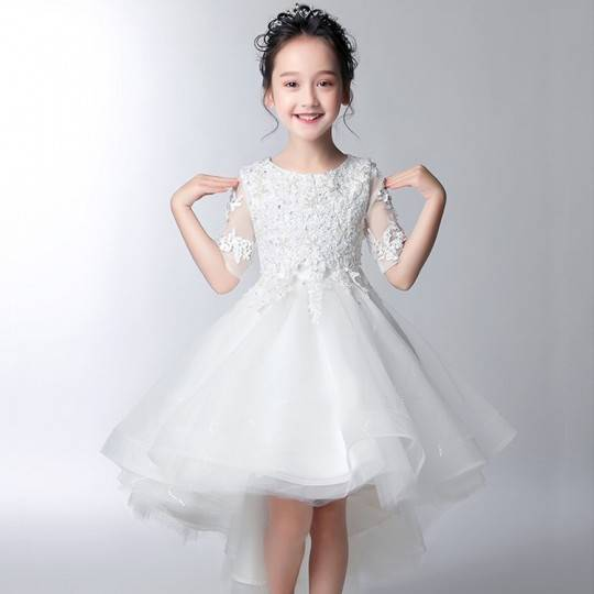 Flower girl formal dress white/pink 100-160cm