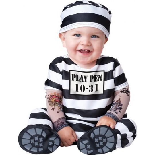 Incharacter Costume de Carnaval Enfant Prisonnier 0-24 mois
