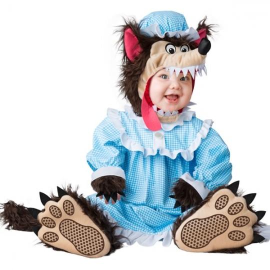 Incharacter Costume de Carnaval Enfant Grand méchant loup 0-24 mois