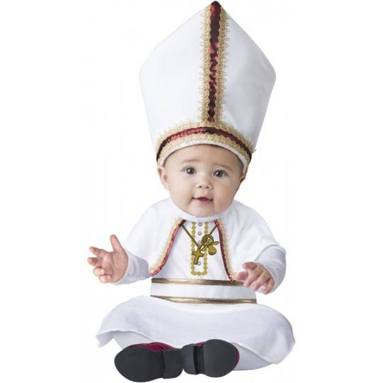 Incharacter Carnival Baby Costume Pint sized Pope 0-24 months