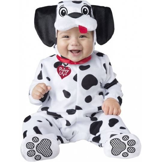 Costume Carnevale Baby Dalmata per Bambino Incharacter 0-24 mesi