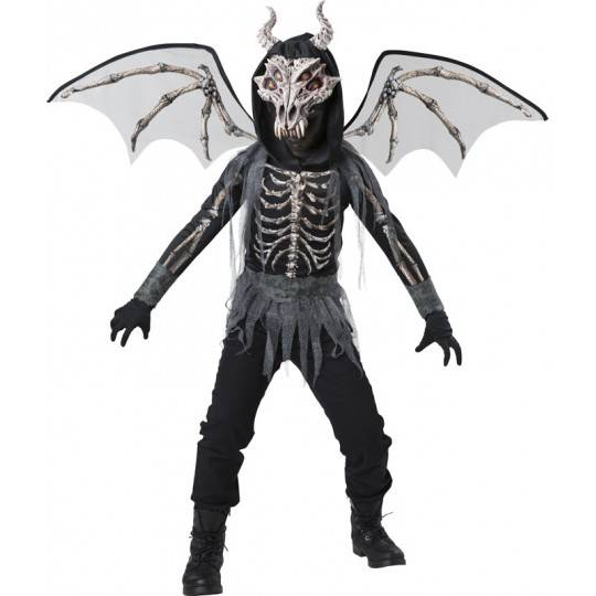 Incharacter Carnival Halloween Dragon Skeleton Costume 5-12 years