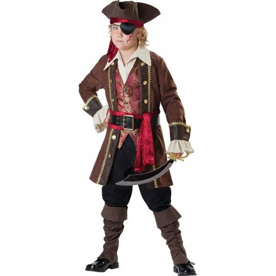 Incharacter Carnival Captain Skullduggery Costume 3-14 years
