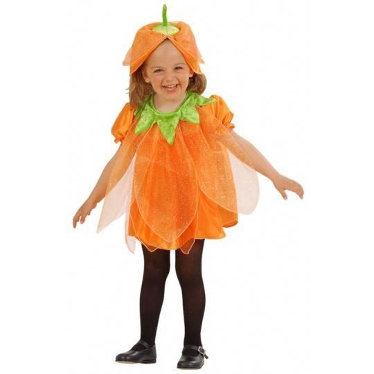 Costume zucca Halloween bambina