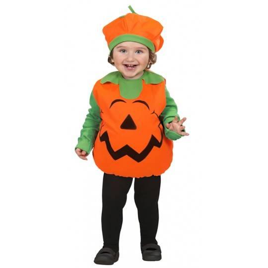 Costume Zucca Halloween unisex 1-3 anni