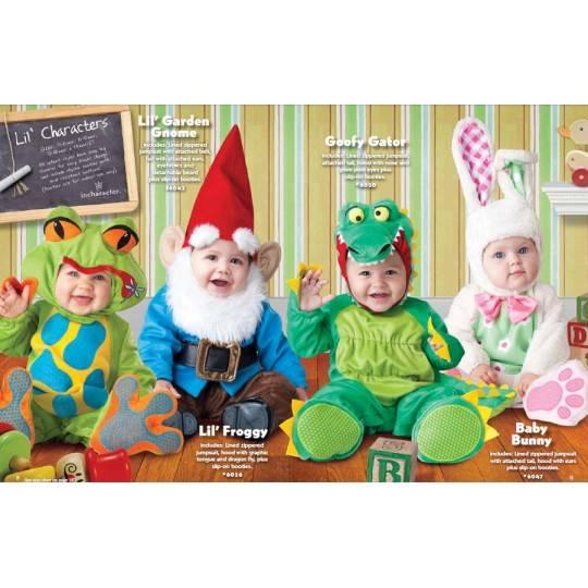 Costume Carnevale Gnomo da giardino Incharacter 0-24 mesi