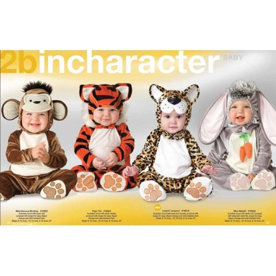 Incharacter Carnival Baby Costume Tiger Tot 0-24 months
