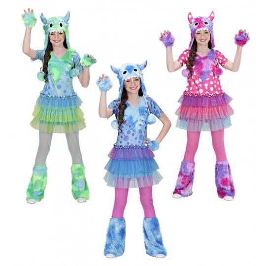 Costume Monster Girl 3-7 anni