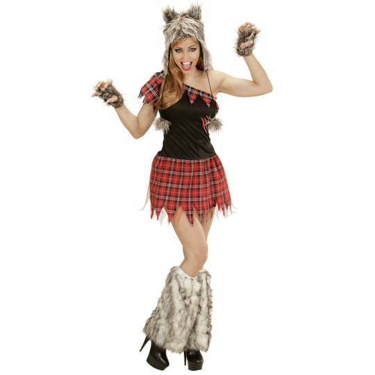 Wolf girl costume for women
