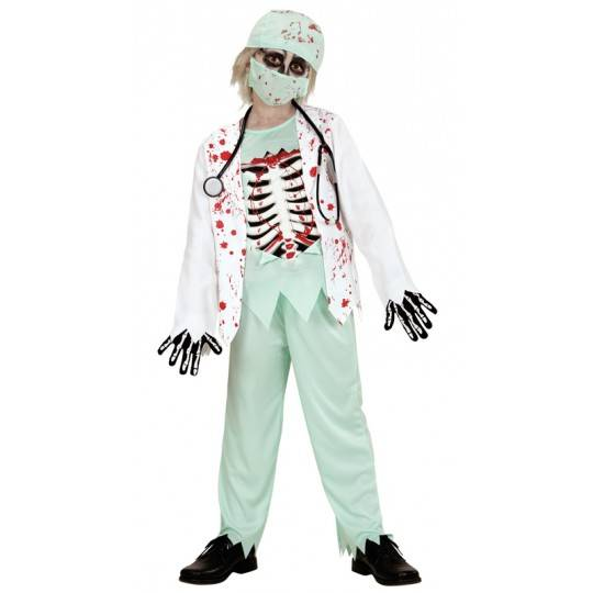 Doctor zombie costume 5-13 years