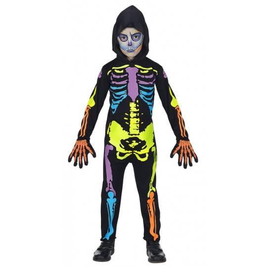Coloured skeleton costume 5-13 years