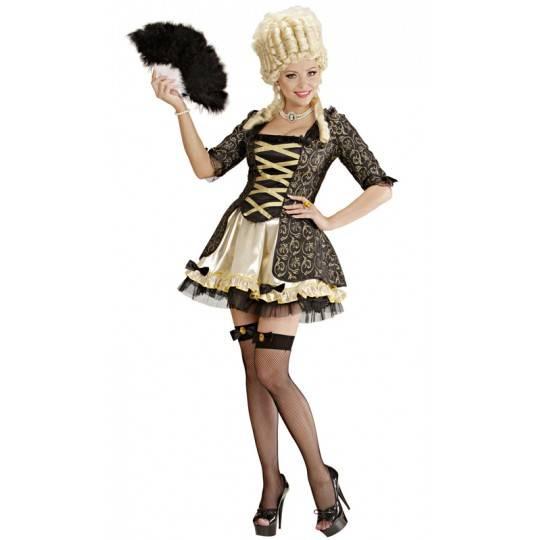 Costume donna Regina Barocca nera