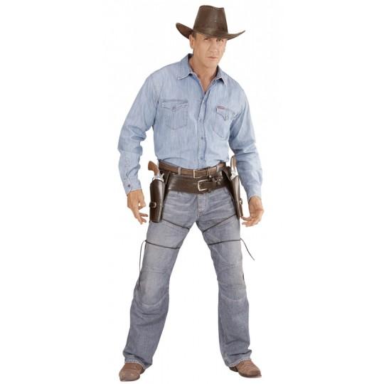 Cinturone western con doppia fondina