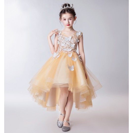 Flower girl ceremony formal dress amber 110-160cm