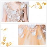 Flower girl ceremony formal dress amber 110-160cm