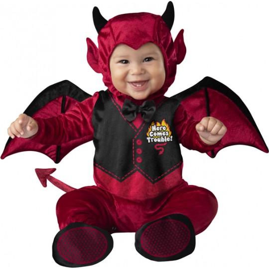 Costume Carnevale Halloween Diavoletto per Bambino Incharacter 0-24 mesi