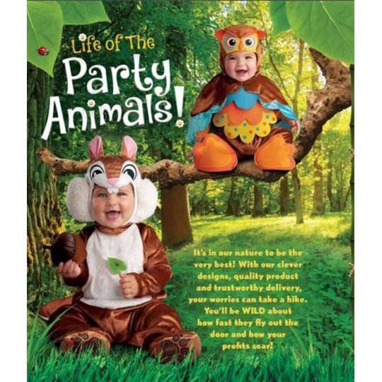 Incharacter Costume de Carnaval Enfant Ecureuil 0-24 mois