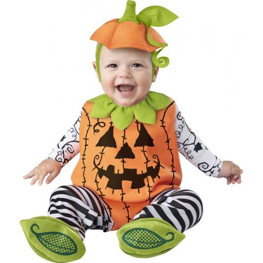 Costume Carnevale Halloween Zucca per Bambino Incharacter 0-24 mesi