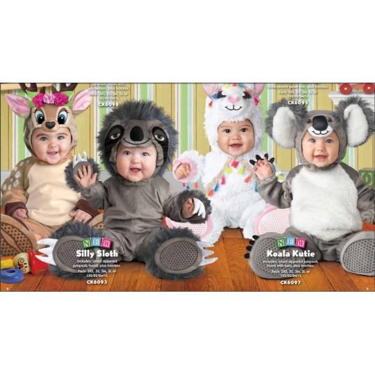Costume Carnevale Unicorno per Bambina Incharacter 0-24 mesi
