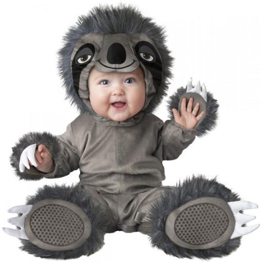 Incharacter Costume de Carnaval Enfant Bradype 0-24 mois