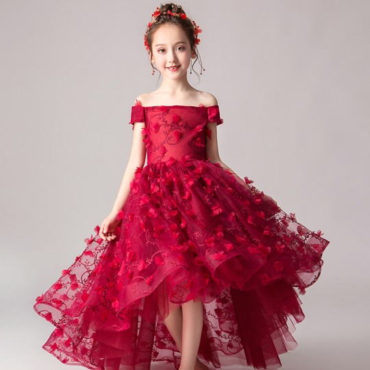 Flower girl ceremony formal dress 100-160cm