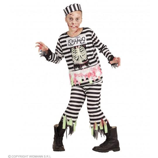 Costume de prisonnier zombie 5-13 ans