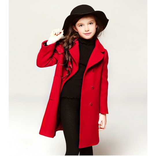 Girl christmas red coat 110-150cm
