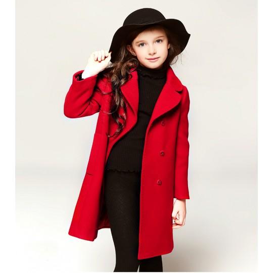Manteau rouge fille cadeau de Noël 110 -50cm