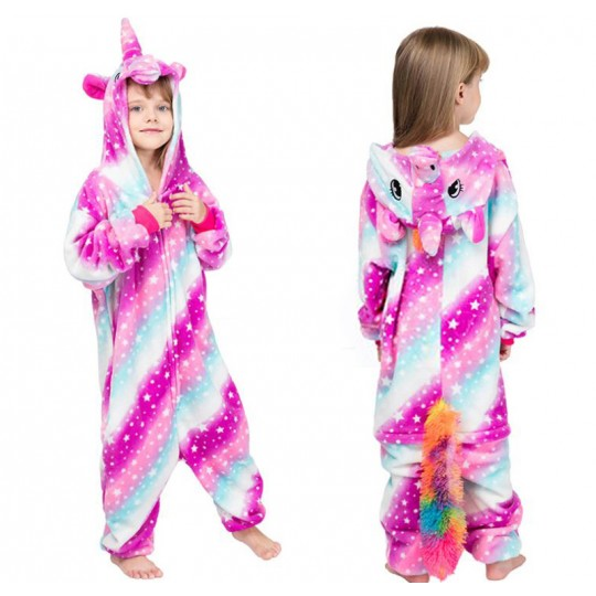 Rainbow Unicorn Costume Pyjamas 4-12 years