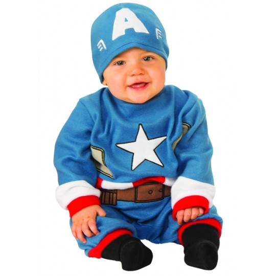 Captain America Baby Costume 0-12 months